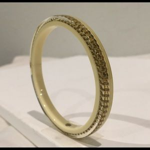 CHANEL Jewelry - CHANEL Enclosed Gold Chain Bangle Bracelet